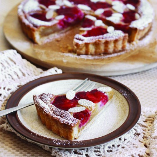 Strawberry Maple Frangipane Tart